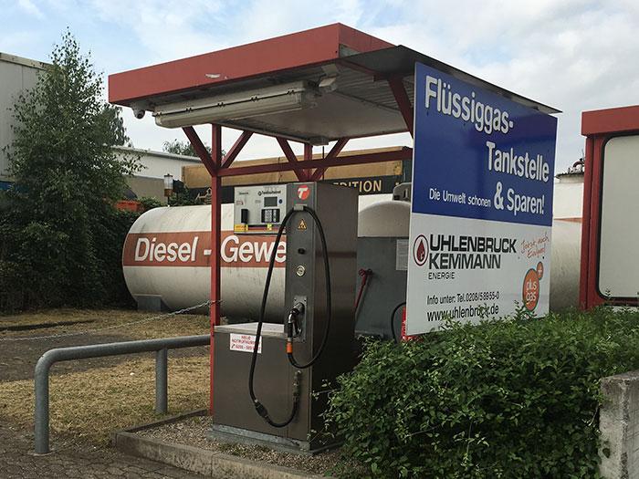 Tankstelle Flüssiggas: 45478 Mülheim, Neckarstrasse 37