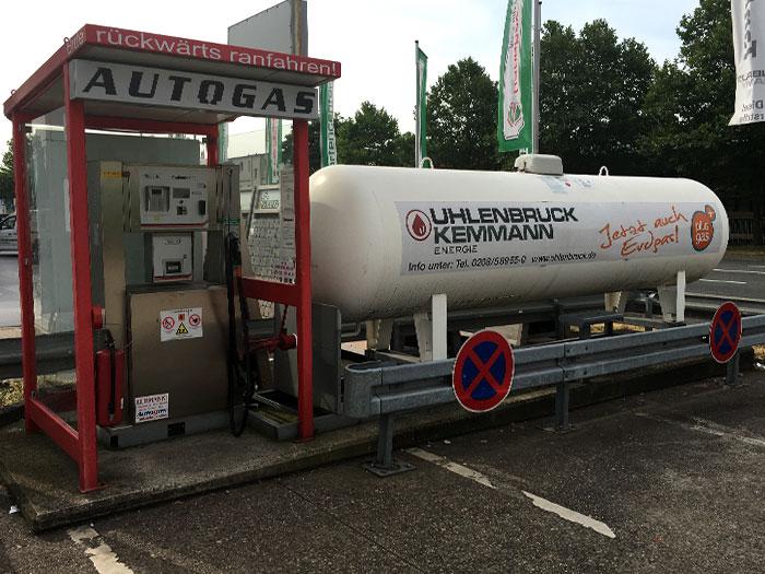 Tankstelle Flüssiggas: 45478 Mülheim, Weseler Str. (Hagebaumarkt)